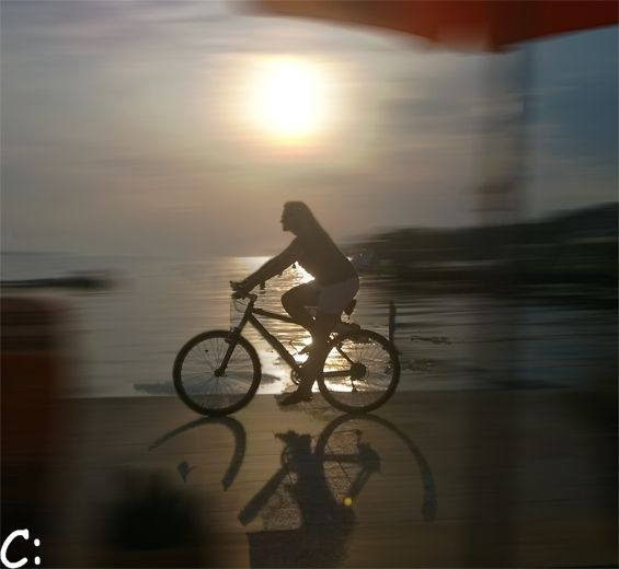 #motion #bicycle #beach #sunset #woman #travel #originalcontent #mypicture