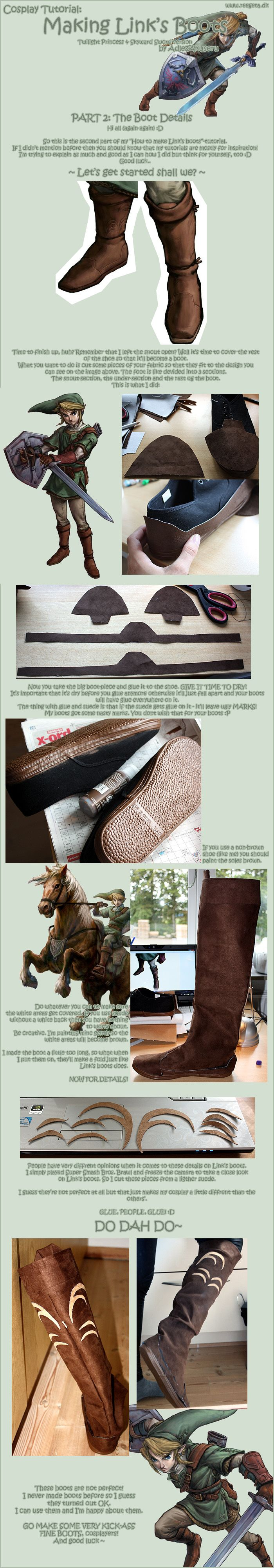 Tutorial: Link's Boots: Part 2 by *AdlezAkuseru on deviantART