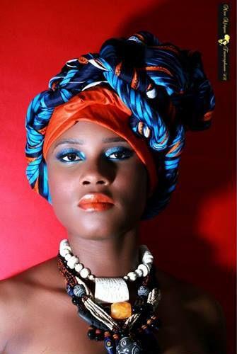 Hair Wrap Cameroon Model Pamela Milla Photographer