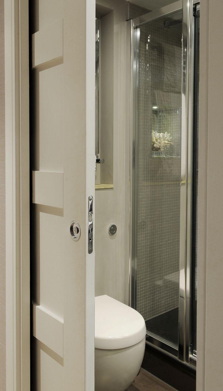 74 best attic loft en suite shower or bathroom images on for Master bathroom pocket door