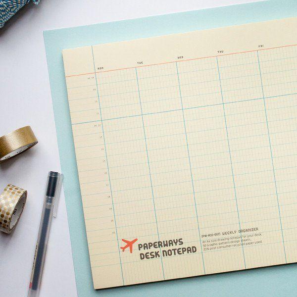 paperways weekly desk planner