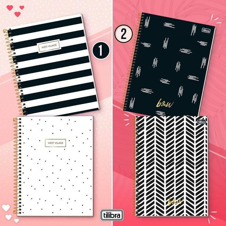 Cadernos preto e Branco em 2020 Materiais escolares
