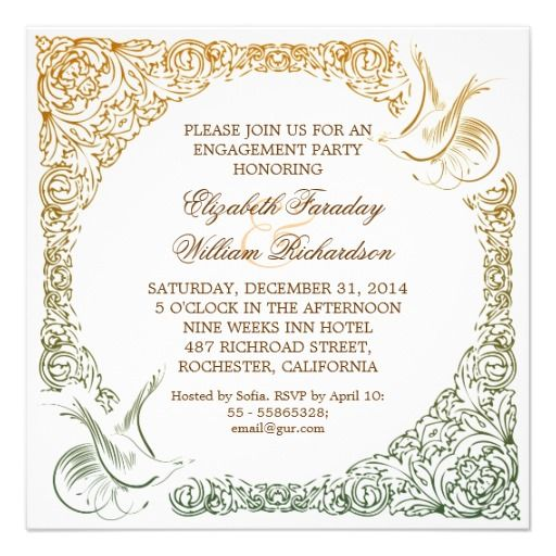 51 best Engagement Party Invitations images on Pinterest - engagement party invites templates