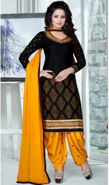 Straight Cut Style Punjabi Patiyal Cotton Salwar kameez in Black Color | FH519478906 #punjabi , #patiyala, #shindhi, #suits, #narrow, #dresses, #salwar, #kameez, #straight, #long, #heenastyle, #indian, #online, #shopping, #clothing, #womens, #girls, #style, #mode, #henna, #hina, #mehendi, #dupatta, #chudidar, @heenastyle , #pakistani, #readymade