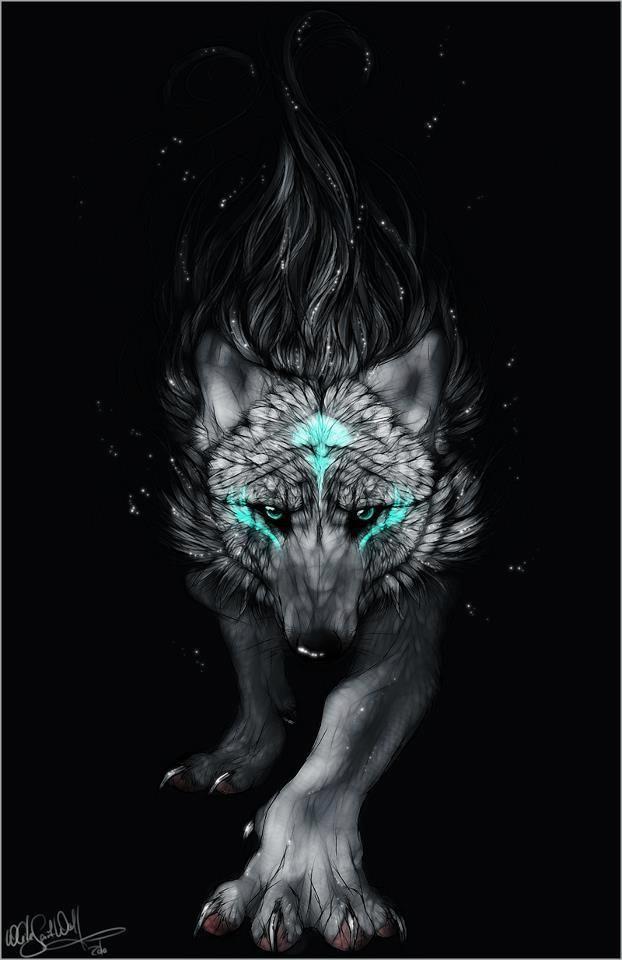 White wolf blue