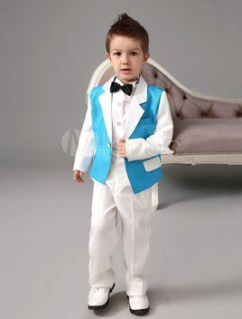 Blue and White Ring Bearer Tuxedo