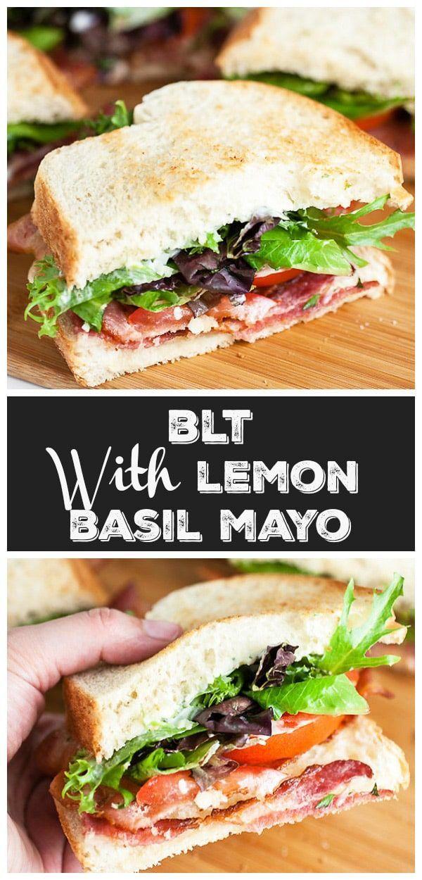 BLT with Lemon Basil Mayo