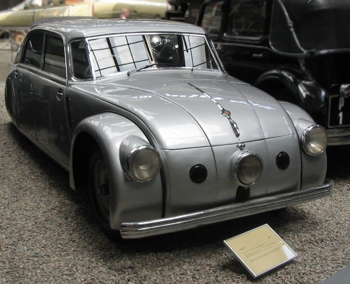 The Czechoslovakian Tatra 77 (T77)--- is the FIRST serial-produced truly aerodynamically designed automobile. It was developed by Hans Ledwinka and Paul Jaray, the Zeppelin aerodynamic engineer.
