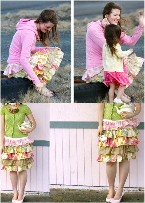 """DIY """"Murphy's"""" Layered Skirt Step by Step Instructions –Top 15 Summer Ready DIY Skirts With Free Patterns and Instructions"""