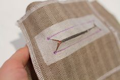 Intimidated by the thought of sewing a welt pocket? Our welt pocket tutorial will guide you through the steps easily and clearly so you'll be sewing welt pockets in no time!