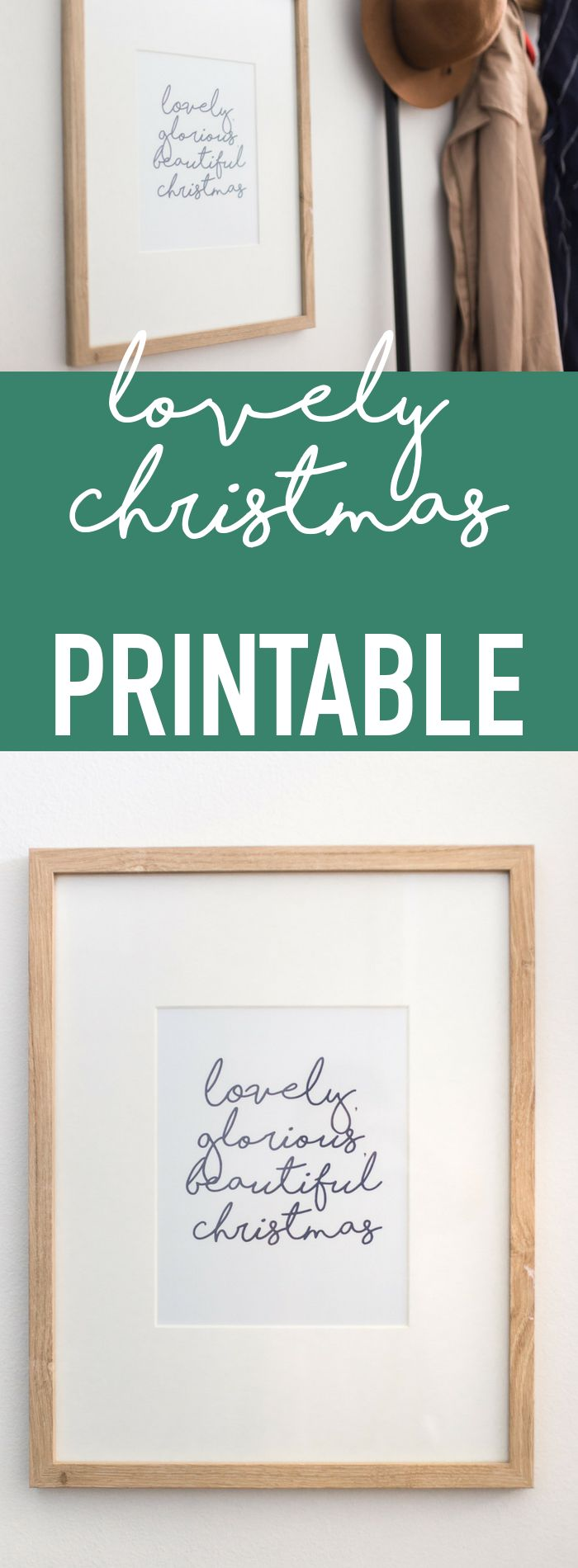 Lovely, glorious, beautiful Christmas - free Christmas Printable - holiday printables and more decorating ideas