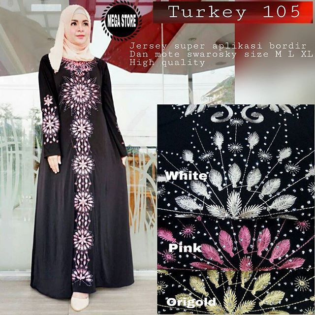 Turkey 105  Matt :  Jersey Super Aplikasi Bordir   Mote Swaroski   Size M, L, XL   High Quality   Harga : 170.000    #khimarmurah #maximurah #gamis #gamismurah #syari #muslim #muslimahfashion #jilbabgrosir #jilbab #ootd #hijab #trend #like4like #l #hijabmurah #jeans #kulot