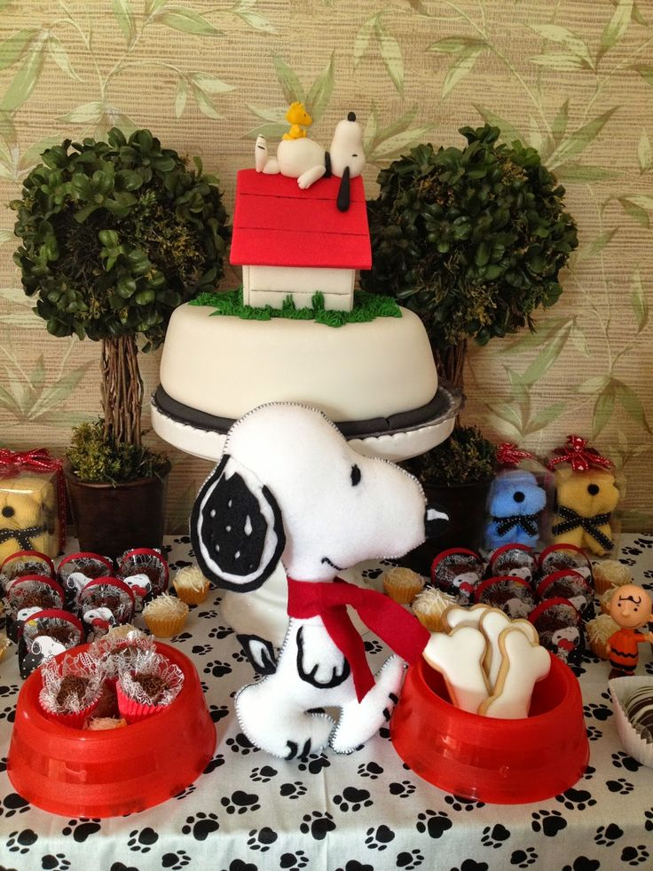 Ideias para festa tema Snoopy / Snoopy Birthday Party Ideas