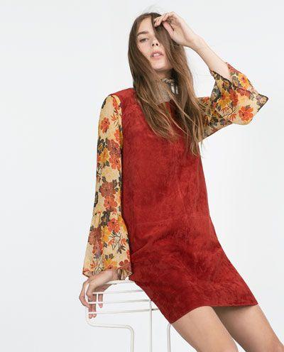 ZARA - WOMAN - SUEDE DRESS