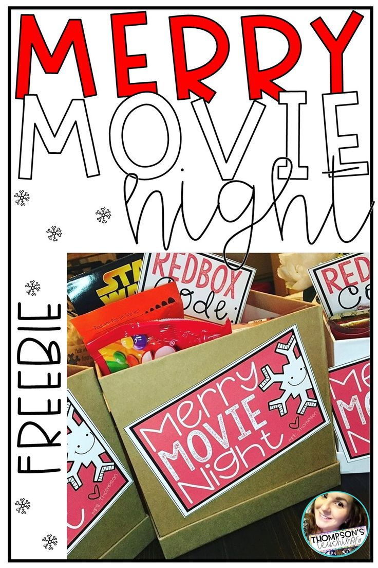 These editable gift tags are movie themed! They are easy gift ideas for room parents, co-teachers, friends, principals, kiddos you tutor, etc. The front tags and movie code tags are included in the freebie. Great for the holiday season! Make great Christmas presents. The tags can also be attached to gift bags too. #winter#Christmas #tags #freebie #giftideas #teachergifts #roomparents #presents #movienight