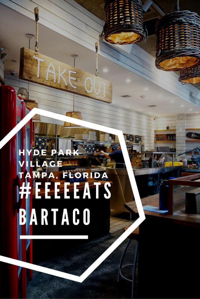 Dining at bartaco in Hyde Park Village in Tampa, Florida. The best tacos you will ever eat.