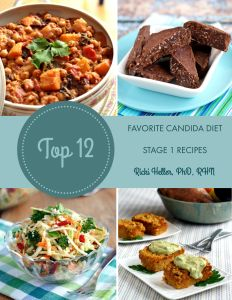 Top 12 Favorite Candida Diet Stage 1 Recipes: all suitable for stage one of an #anticandida diet--no sugar, eggs, dairy, gluten and all but one are #grainfree, too!