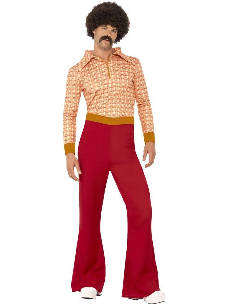70-luvun sälli. Tyrmäävät, korkeavyötäröiset ja leveälahkseiset housut kruunaavat asukokonaisuuden, johon kuuluu myös tarkasti vuosikymmenen muotia seuraava kuviollinen paita.