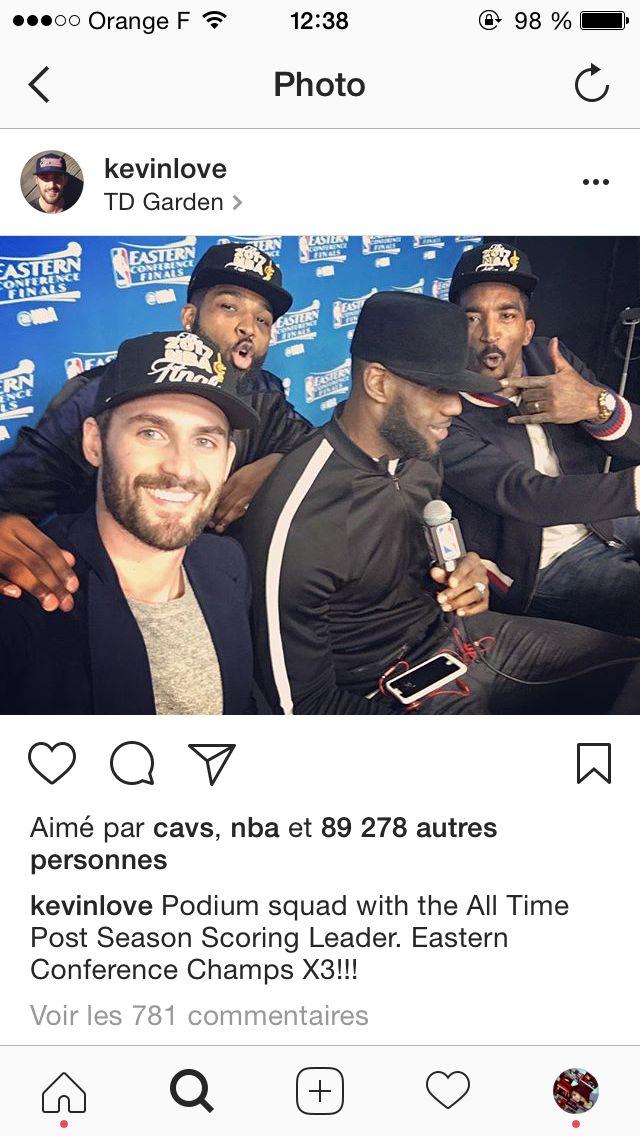 Cavs final conférence LeBron James jr smith thompson Kevin love