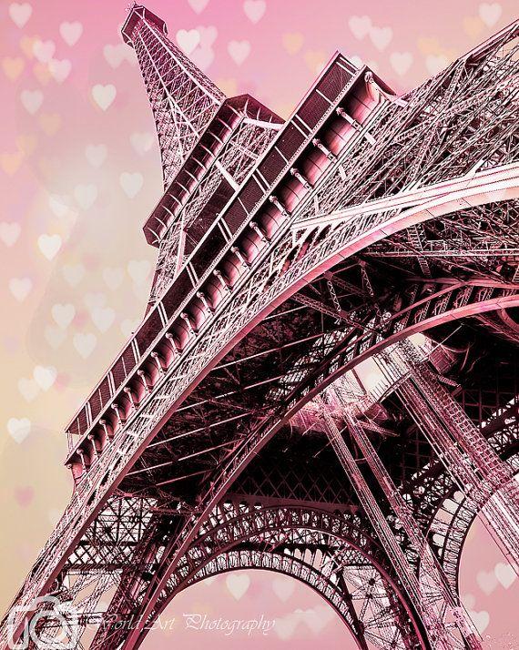 Paris photo,Paris canvas,Paris prints,Vintage photo,Rustic photo,Old photo style, Original canvas,Pink Paris canvas,Eiffel Tower Paris