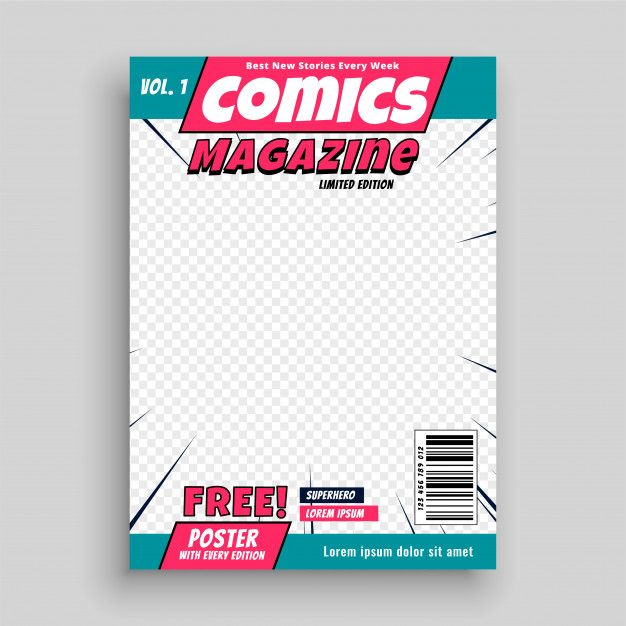 Comic Magazine Cover Page Template Free Vector 素材 In