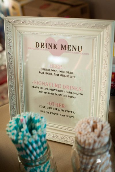 Wedding Drink Menu -  Style Me Pretty   Gallery   Picture   #782887