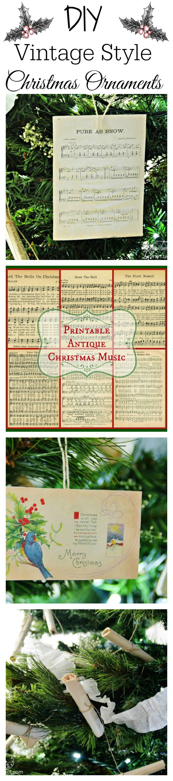 Christmas Tree Vintage Style 1153 best Printables