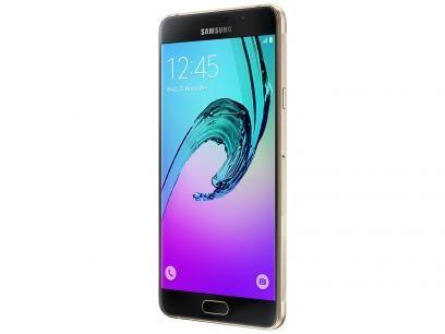 """Smartphone Samsung Galaxy A7 2016 Duos 16GB - Dual Chip 4G Câm. 13MP + Selfie 5MP Tela 5.5"""" com as melhores condições você encontra no Magazine Ciabella. Confira!"""