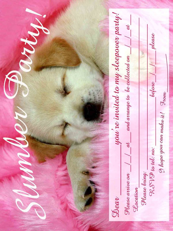 printable birthday invitations for 12 year old girls | ... seven very cute and very girly slumber party invitations so if you are
