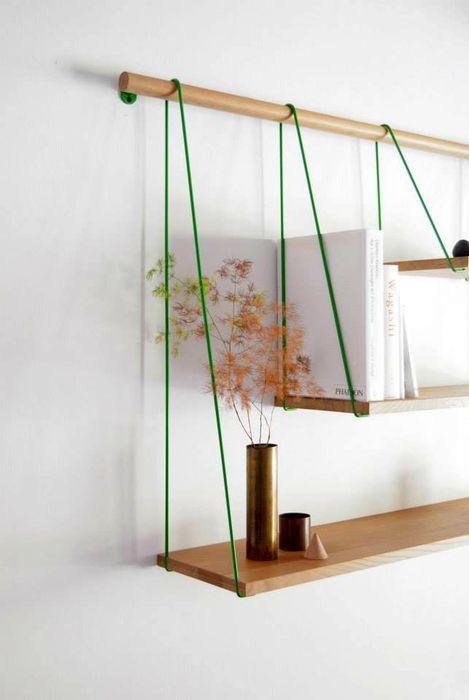 Простая и элегантная подвесная полка Bridge Shelves — HD INTERIOR