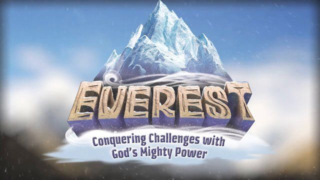 Everest VBS - A Day At Everest VBS. Join us as we follow a Climbing Crew through the amazing stations and adventures that they'll be a part of at this VBS that encourages kids overcome obstacles with God's awesome power and anchor kids in rock-solid Bible truths that will guide them through life's challenges. Learn more about Everest VBS by visiting http://www.group.com/vbs/everest.