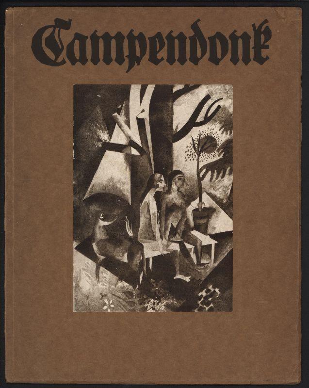 """Heinrich Campendonk (1889-1957), mit zwei Original-Holzschnitten von Campendonk """"Frau mit Blume"""" (1918) und """"Am Tisch sitzende Frau mit Katze und Fisch"""" (1919); und dreizehn Abbildungen auf Kunstdruckpapier."""
