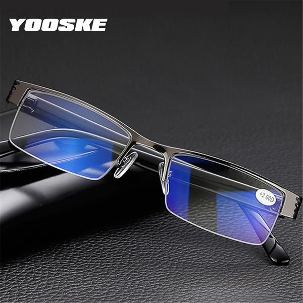 2ded2722eb11 YOOSKE Blue Film Resin Reading Glasses Men Women +1.00 1.50 2.00 2.50 3.00  3.50 4.00 Diopter  Discounts  BestPrice