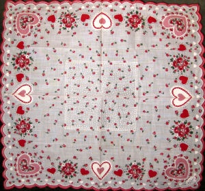 Hearts In Pink, Red And White Are Surrounded With Myriad Roses And Rosebuds.