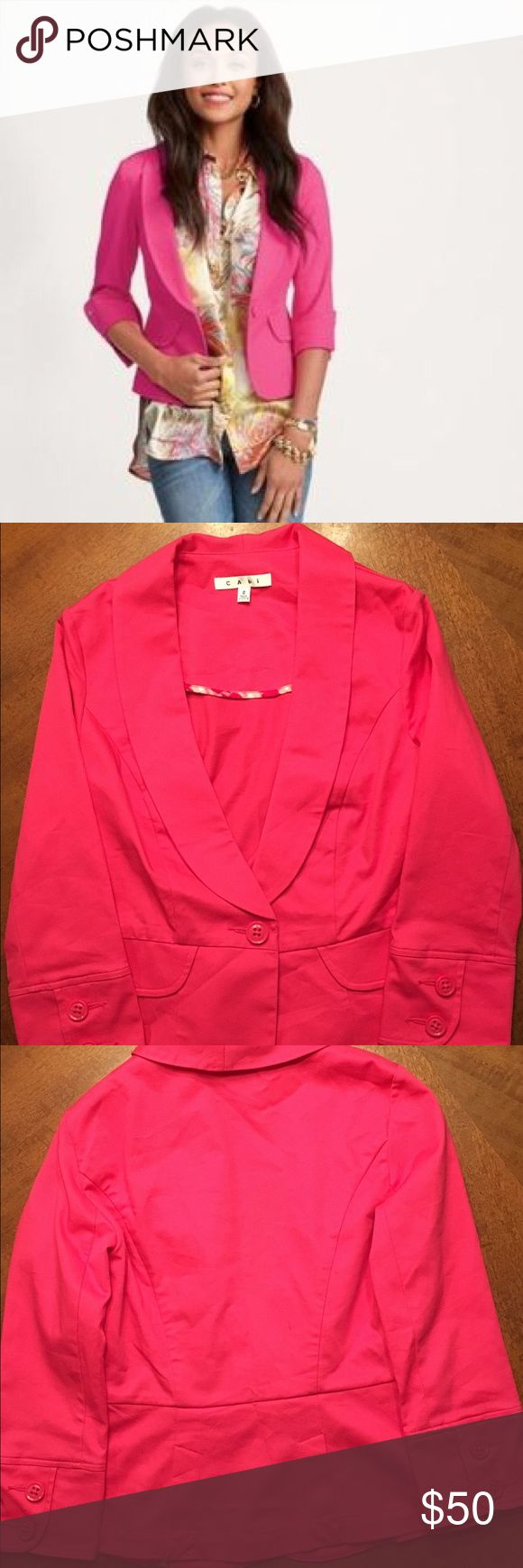 NWOT CAbi Power Pink Blazer - Size 2 Gorgeous NWOT CAbi Power Pink Blazer in Size 2. CAbi Jackets & Coats Blazers