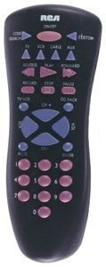 RCA RCU410 Universal Remote Control by RCA. $10.74. Controls TV, VCR, Cable Box and SAT/AUX  Menu key  Code saver  Universal DBS codes; Extensive code library  Sleep timer