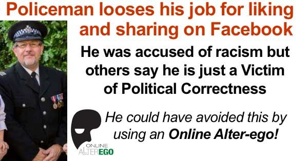 "Chief Inspector Steven Drew, of Avon and Somerset Constabulary's specials was accused of sharing and liking 'explicitly racist' material on Facebook and was dismissed from the force in December 2016.    His offense was ""liking"" a Facebook pag..."