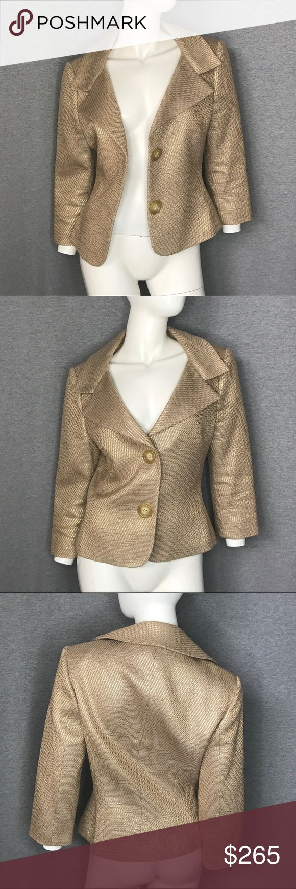 MICHAEL KORS COLLECTION Gold Metallic Jacket MICHAEL KORS COLLECTION Gold Metallic Jacket Michael Kors Jackets & Coats