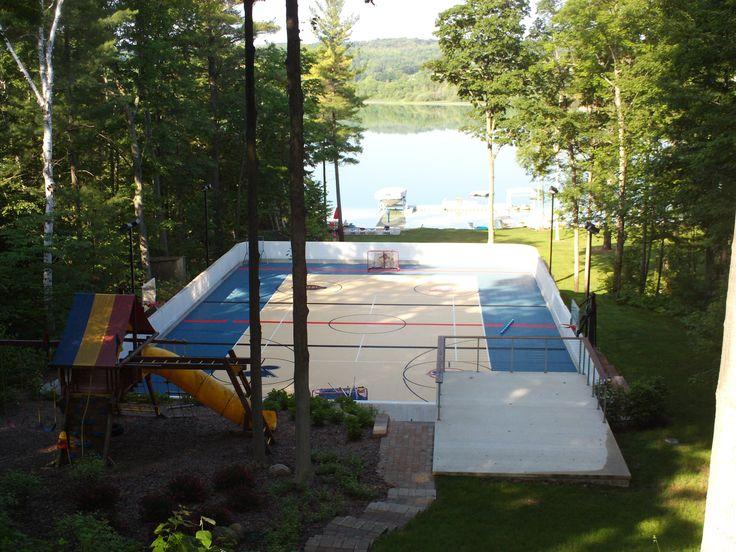 Backyard Hockey Rink.