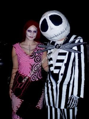 Homemade Nightmare Before Christmas Couples Costume... This website is the Pinterest of costumes