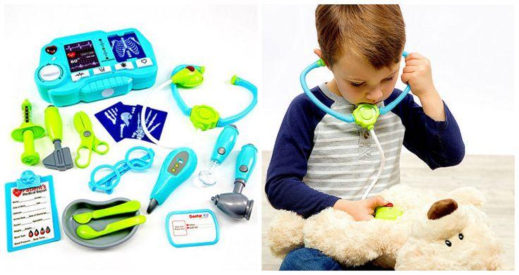 Kids Pretend Play Toy Doctor Kit Educational Medical Set Case XRay Machine 20 Pc #PretendPlaysetsToys