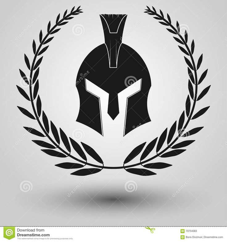 Spartan Helmet Silhouette Stock Vector - Image: 70754083