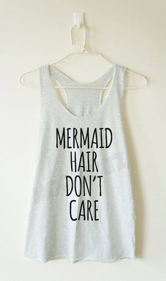 Mermaid hair don't care tshirt funny tshirt cool by MoodCatz