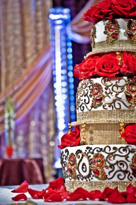 South Asian wedding cake