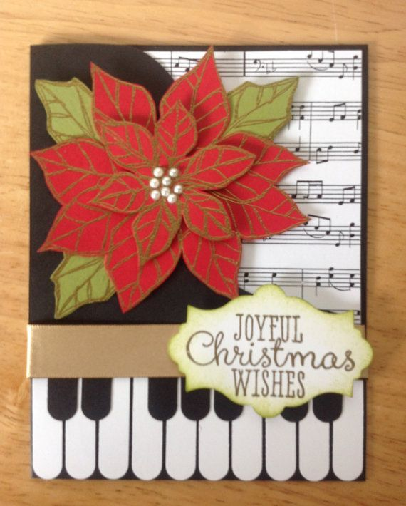 Stampin Up handmade Christmas card piano music and by treehouse05