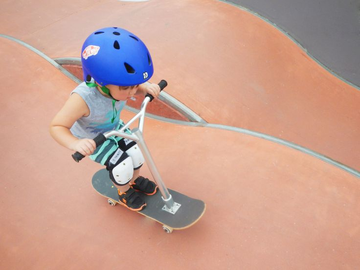 Trying out Yamba's Skate Park