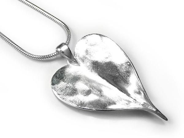 Silver Pendant - Organic Heart