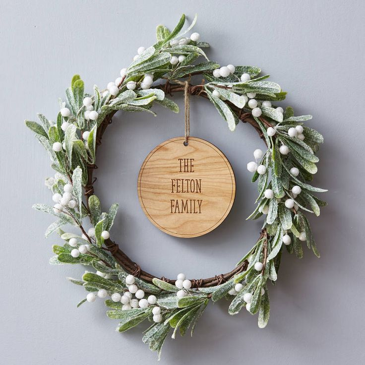 Are you interested in our Personalised Christmas Wreath? With our Mistletoe Christmas Wreath you need look no further.