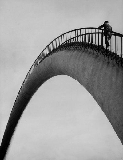 Rainbow Bridge.Pedestrian Bridges, Rainbows Bridges, Black And White, Saint Louis, Eero Saarinen, I Love Photography, Contemporary Art, The Bridges, Steel Arches Bridges