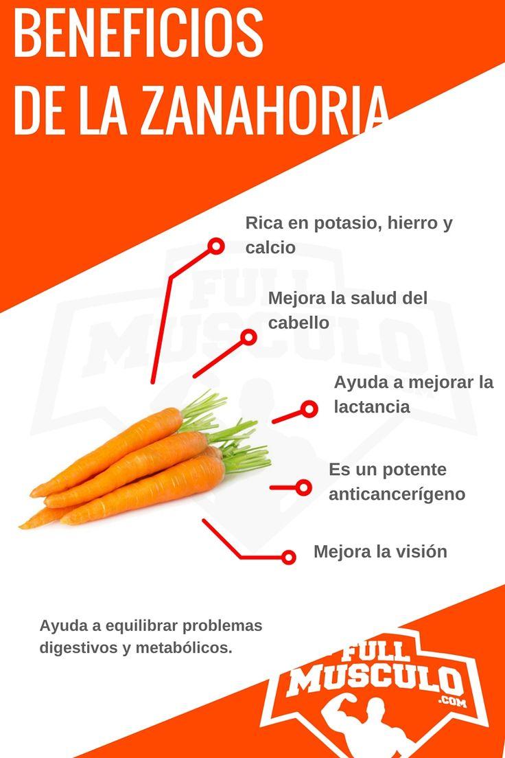 infografía de los beneficios de la zanahoria